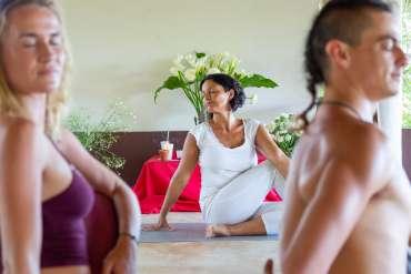students at Yoga Teacher Training Course 200hr at AUM Tantra Yoga