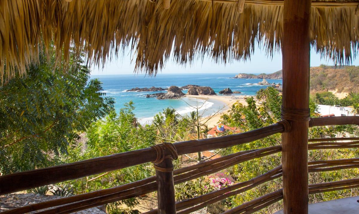 beach view from yoga retreat center
