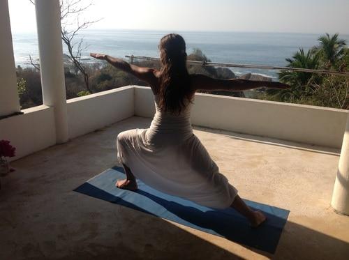 Yoga Teacher Training Student Doing Virabhadrasana 2