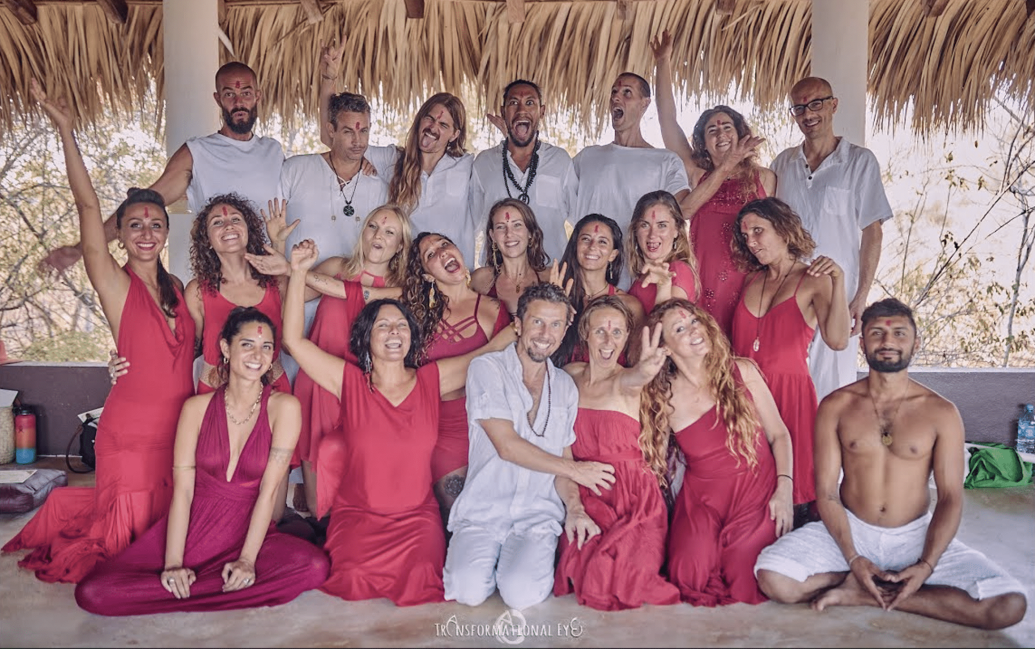 Tantra Teacher Training Course Marco and Amita with Students in Graduation Ceremony