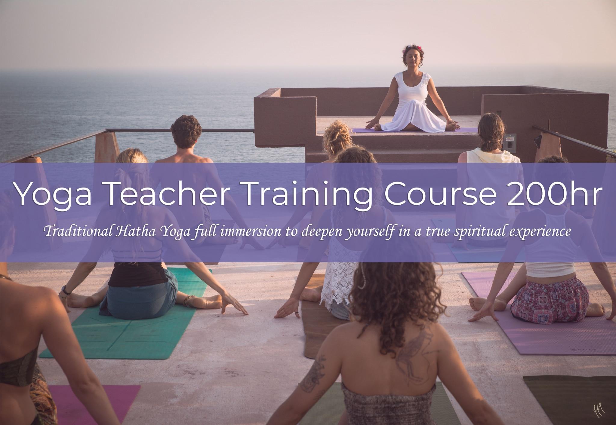 Yoga Teacher Training Course 200hr Amita giving group yoga class to yoga teachers